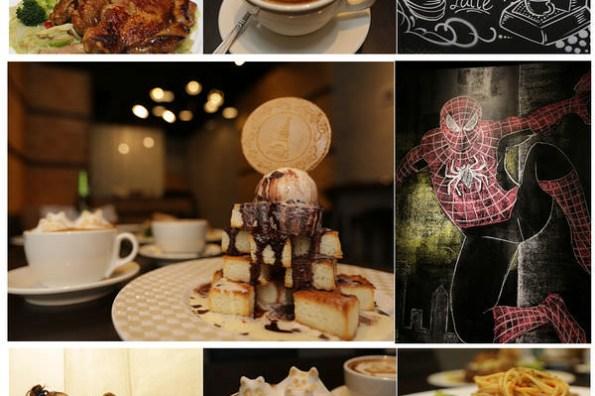 【彰化市美食餐廳】MooBoo 沐佈咖啡❤超級犯規之邪惡美食的立體貓咖啡、邪惡之蜜糖土司~還也酷炫的蜘蛛人牆萌翻全場。彰化市咖啡店/彰化市餐廳/彰化美食/彰化下午茶/彰化消夜