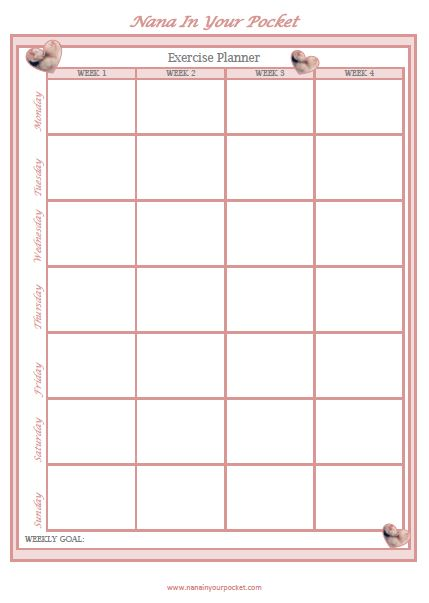 downloadable pdf exercise planner nana in your pocket