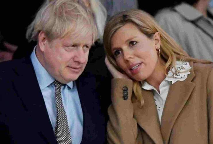 Boris Johnson and her fianceé Carrie Symonds