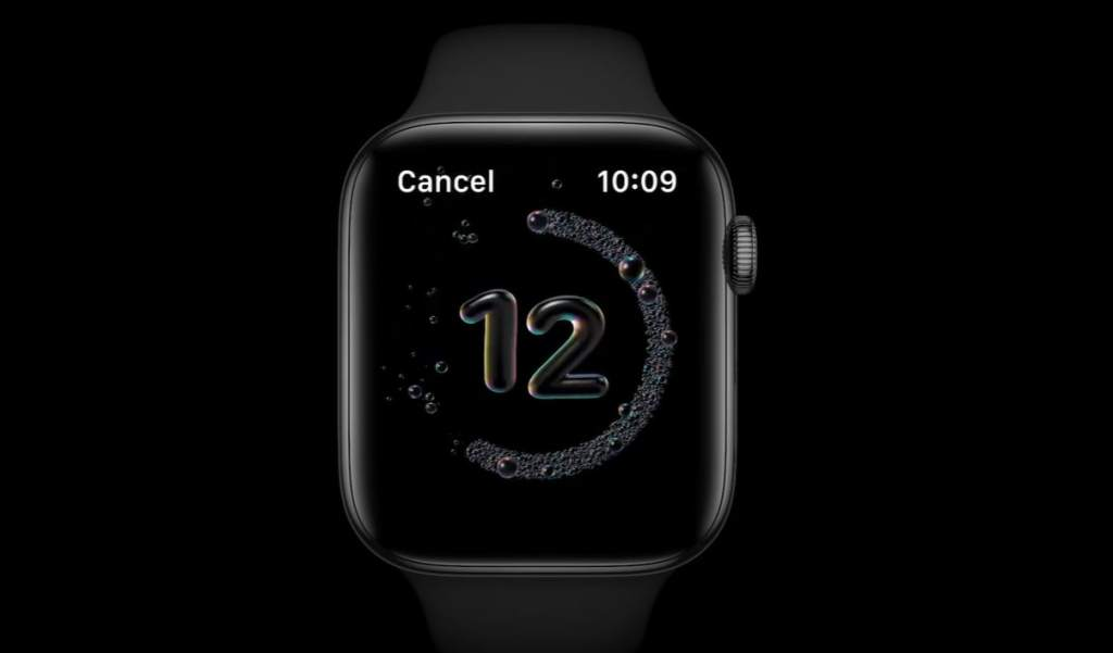WatchOS 7 will have a timer that helps you wash your hands long enough.