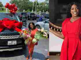 The man behind Nana Aba Anamoah's Range Rover has been revealed