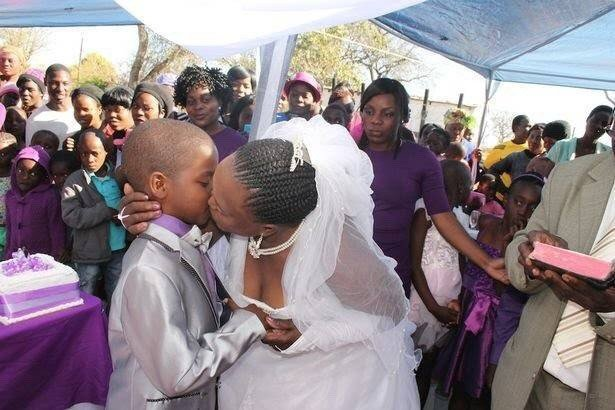 Shocking!! 9-Year-Old Boy Marries 62-Old-Year Old Woman In South Africa