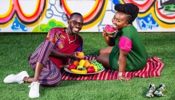 Okyeame Kwame and wife shares an adorable photo of their newborn baby