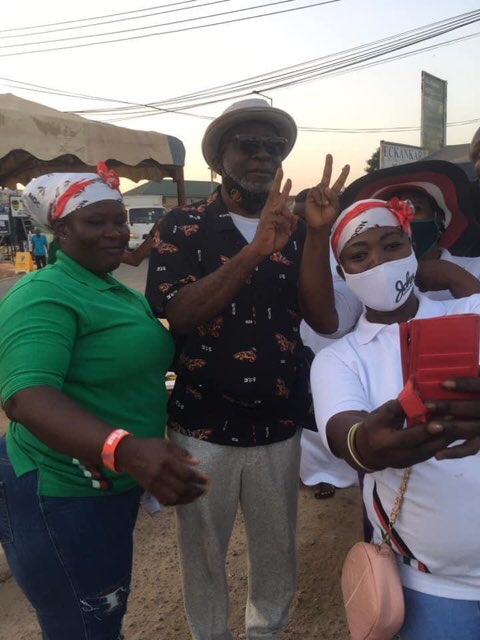 Top celebs storm Ayawaso West Wuogon to campaign for John Dumelo [ See photos]