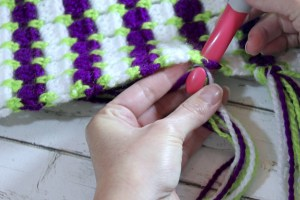 Put yarn on crochet hook