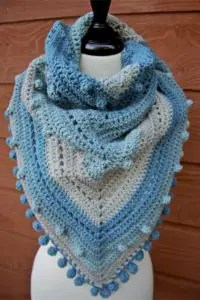 Misty Morning Triangle Scarf Shawlette