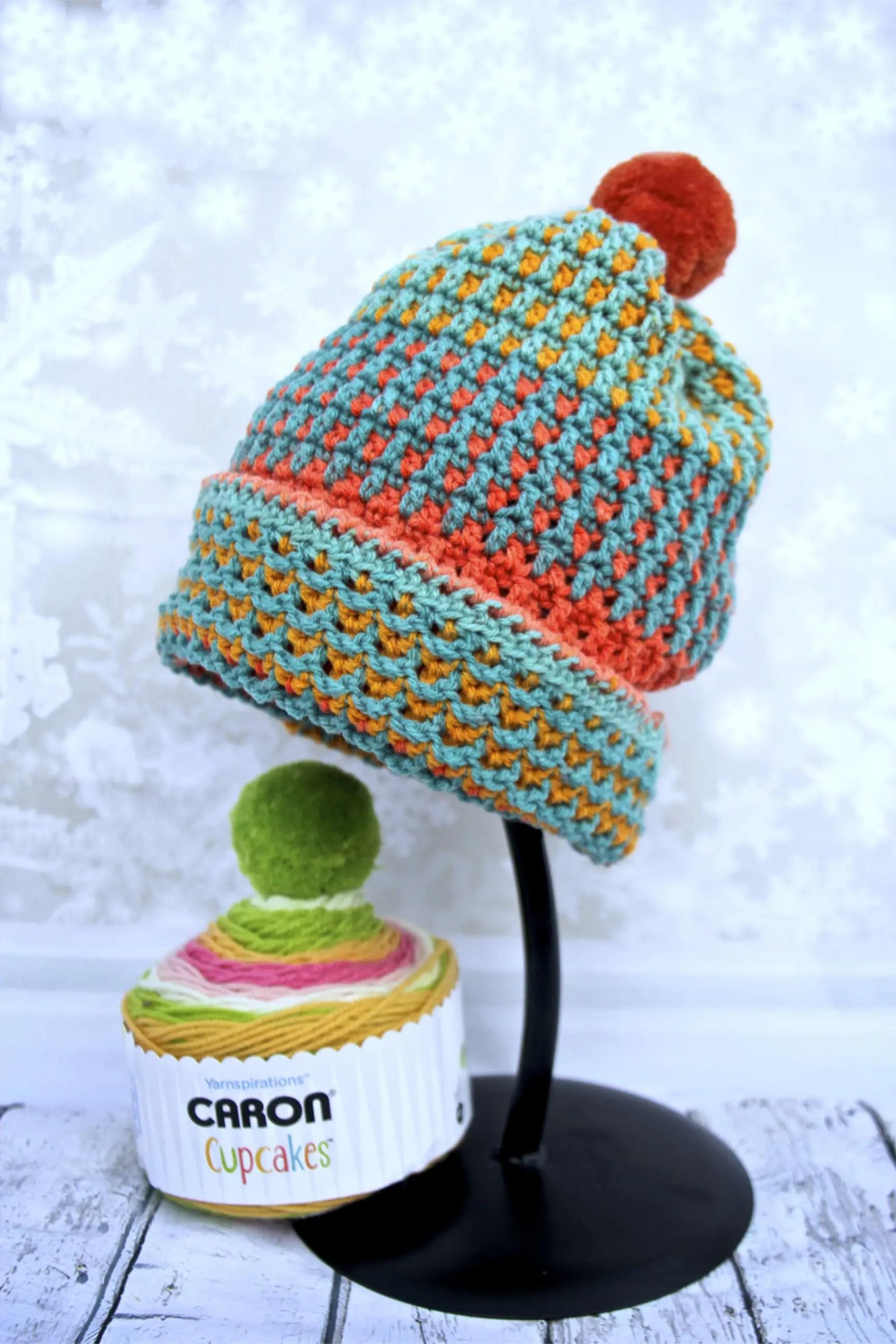 Easy Peasy Messy Bun Hat Free Crochet Pattern