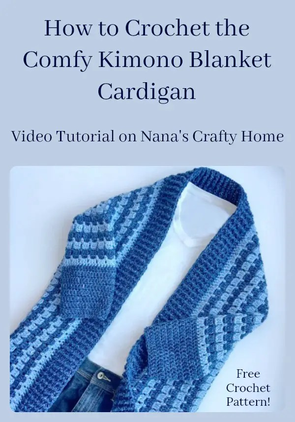Comfy Kimono Blanket Cardigan Video Tutorial a free crochet pattern!