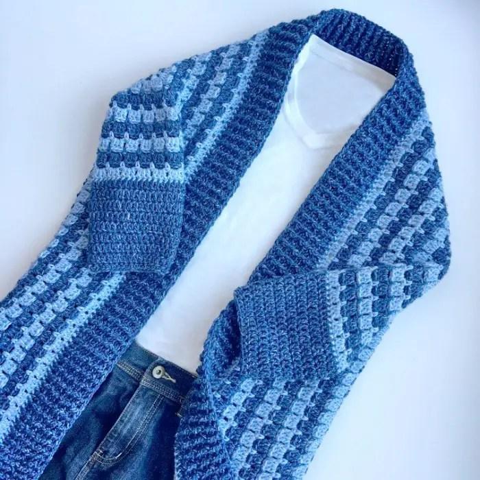 Comfy Kimono Blanket Cardigan Free Crochet Pattern