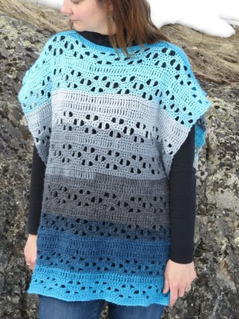 Easy Spring Poncho by Highland Hills Crochet