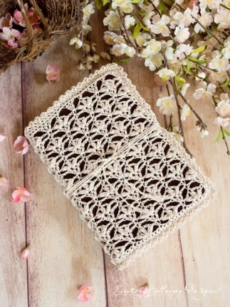 Lace Book Bible Cover by Kirsten Holloway Designs