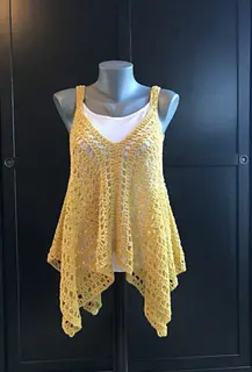 Kanata Kerchief Tank Pattern by Jennifer Ozses