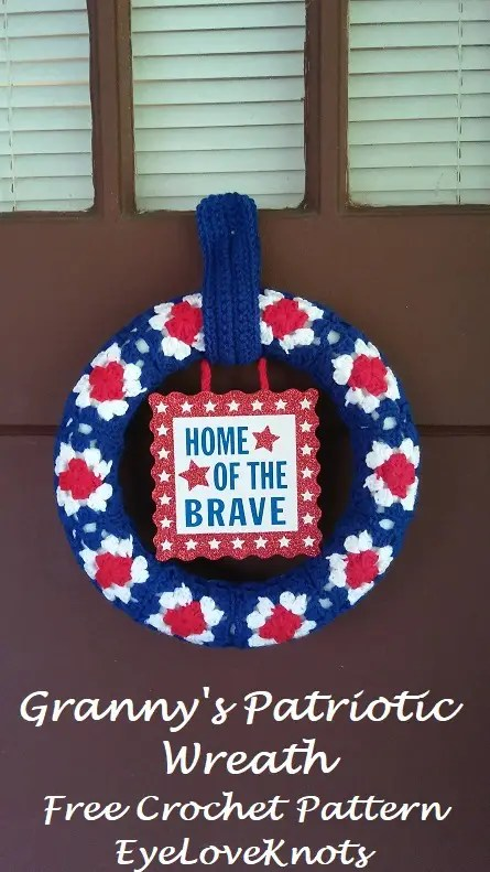 Granny's Patriotic Wreath by Eye Love Knots