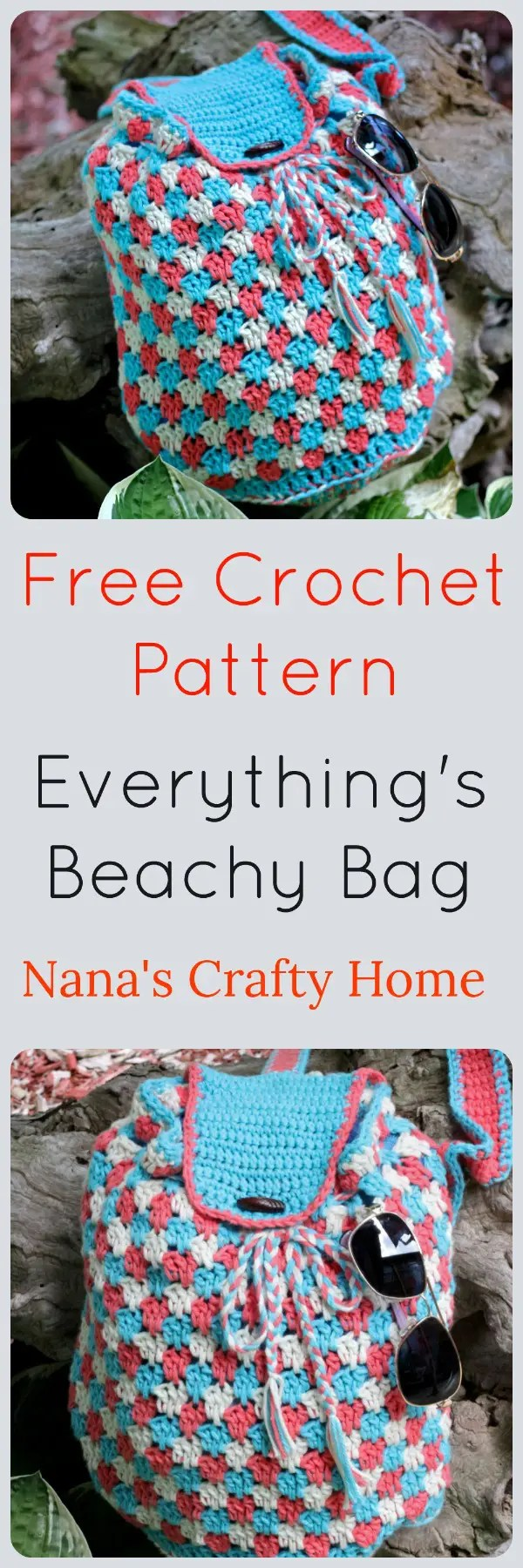 Everything\'s Beachy Bag Free Crochet Pattern a Crossbody Sling Bag