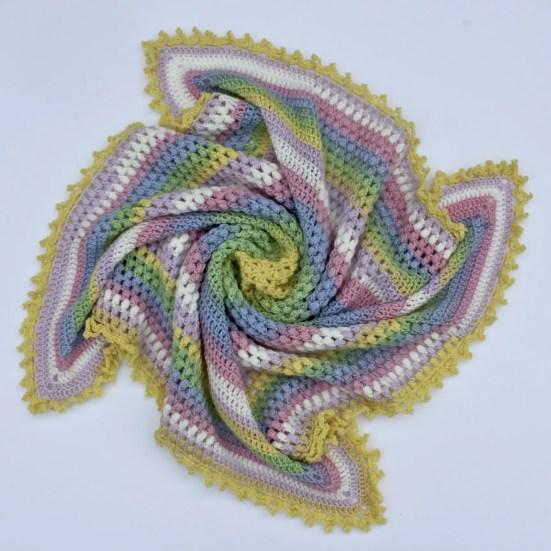 How To Crochet The Pineapple Of My Eye Baby Blanket