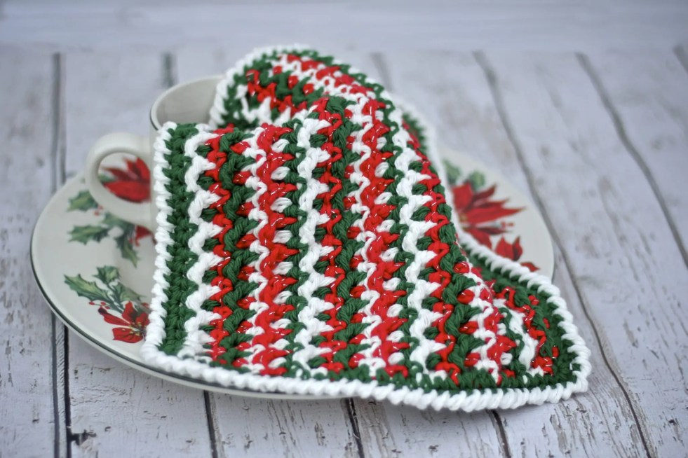 4eeef148b65 How to Crochet the Any Holiday Textured Dishcloth Free Pattern Tutorial