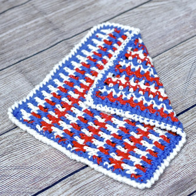 Any Holiday Textured Dishcloth a free crochet pattern