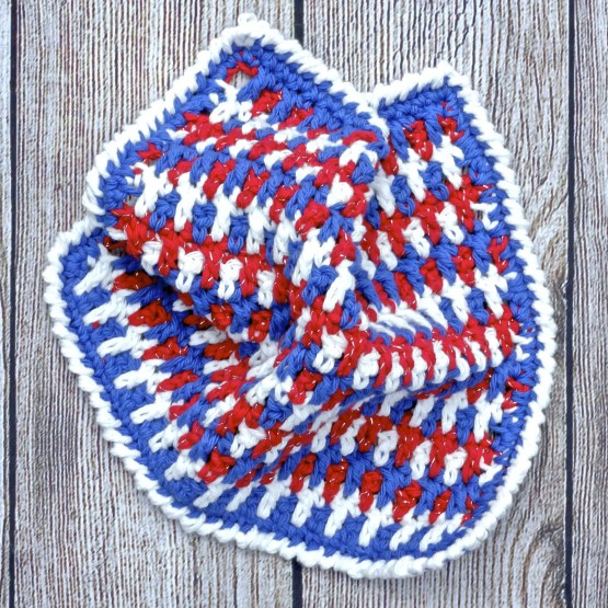 Any Holiday Textured Dishcloth free crochet pattern