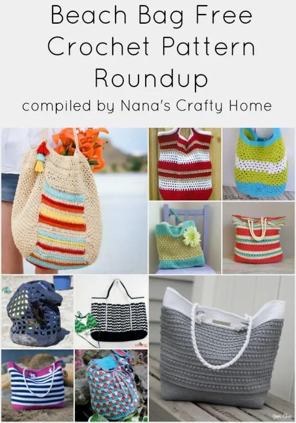 Summer Beach Bag Free Crochet Pattern Roundup At Nanas Crafty Home