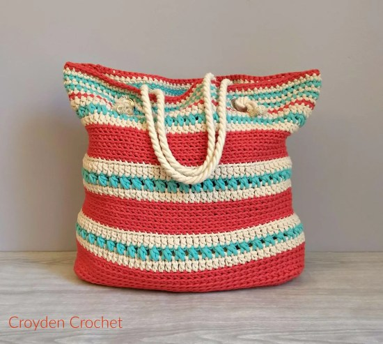 The Asbury Tote Bag by Croyden Crochet a free crochet bag pattern