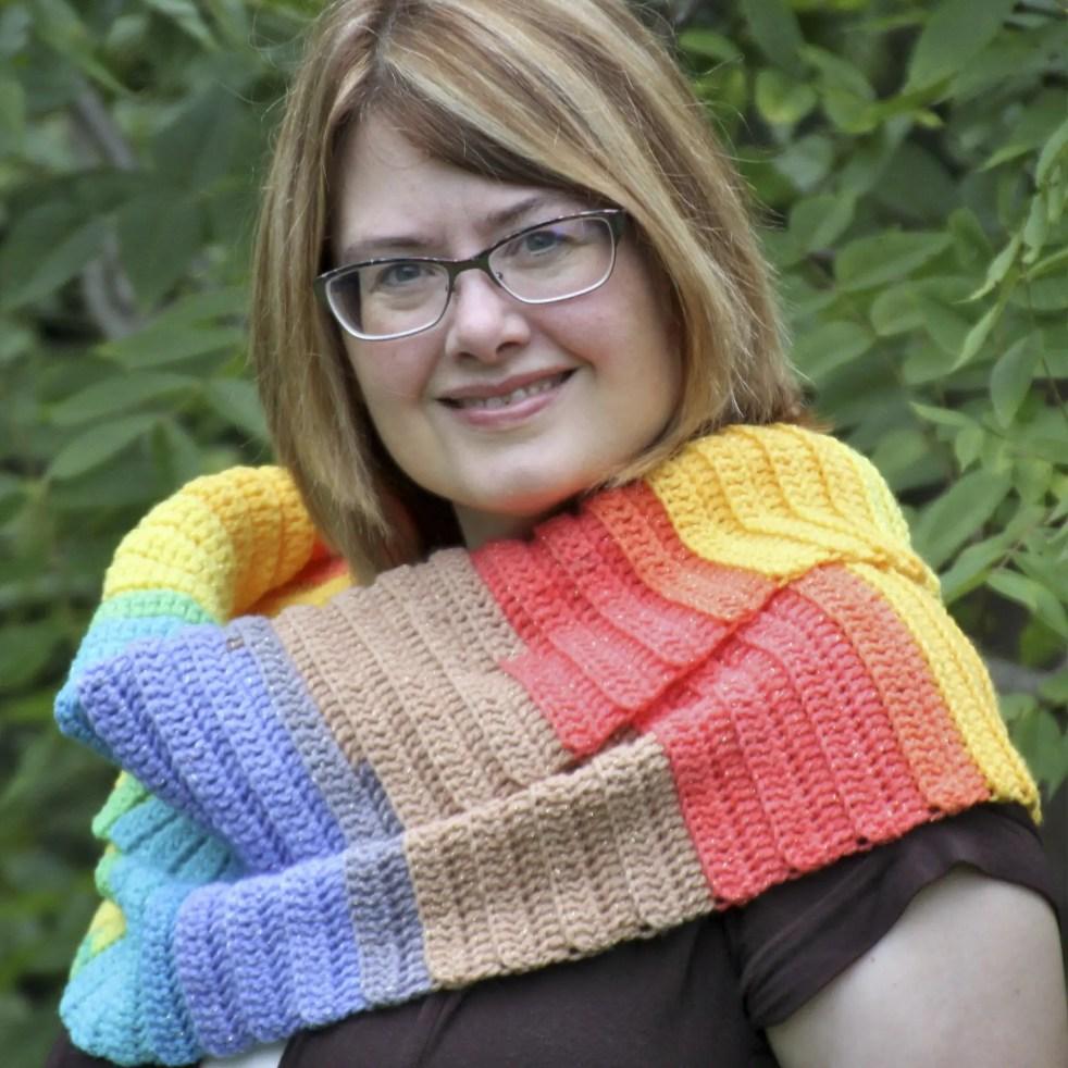 Simple Sparkle Scarf free crochet pattern video tutorial