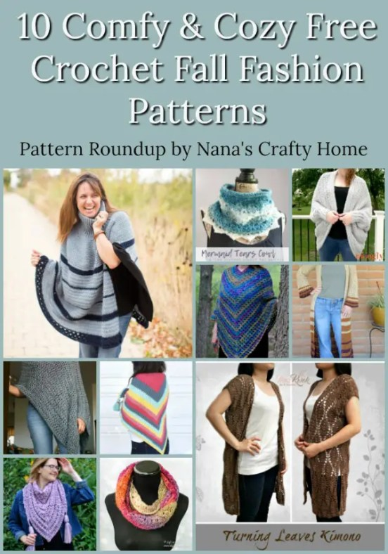 10 Comfy & Cozy Fall Fashion Free Crochet Pattern Roundup