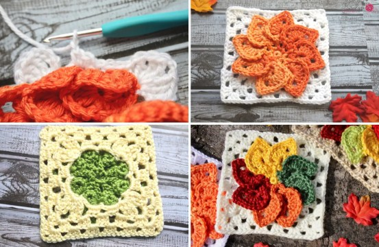 Leaves Granny Square a free crochet pattern