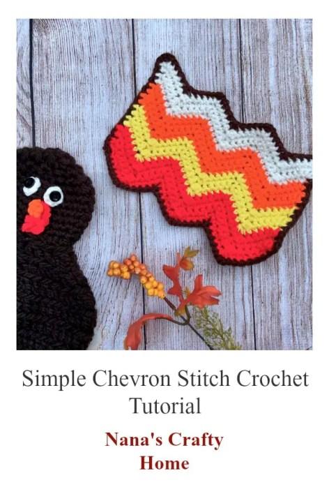 Simple Chevron Crochet Stitch Tutorial