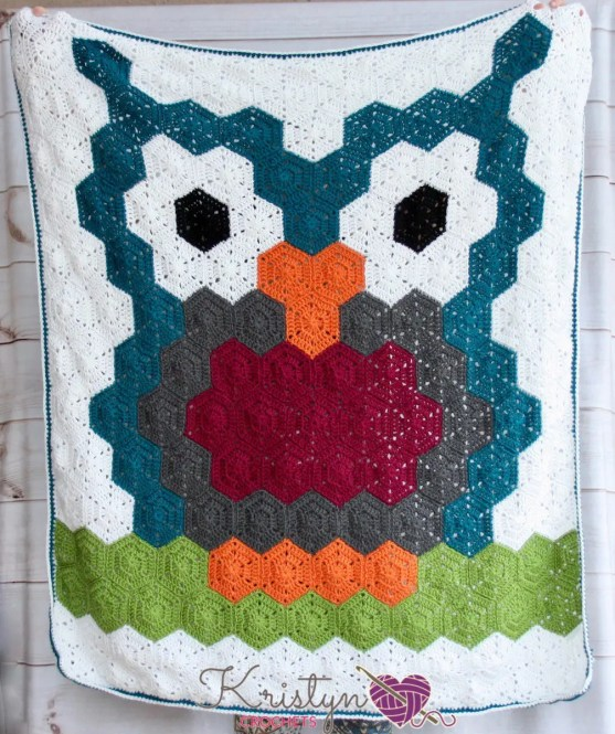 Owl Hexagon Blanket a free crochet pattern