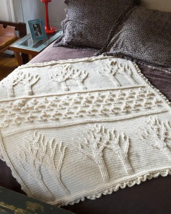 Tree of Life Afghan crochet pattern at Lion Brand website