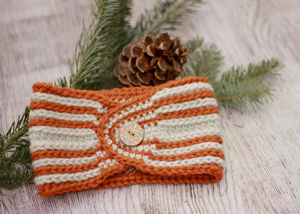 Fast Track Head Wrap Ear Warmer free crochet pattern video tutorial