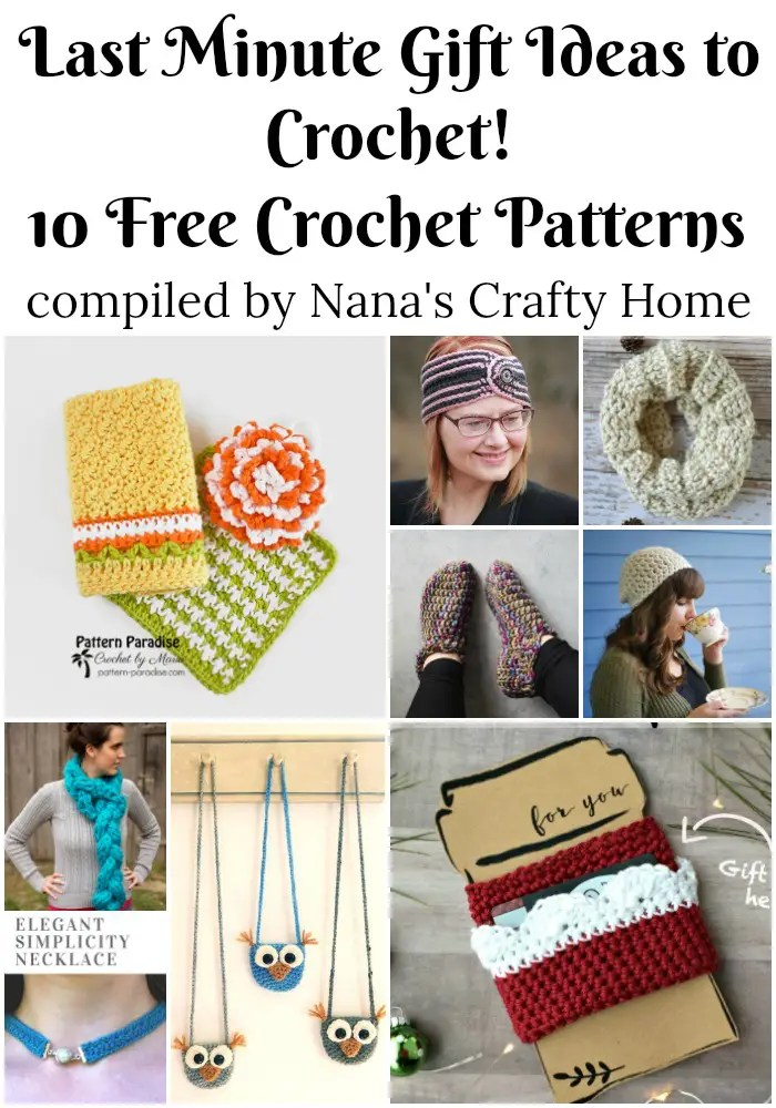 Last minute gift ideas to crochet free patterns