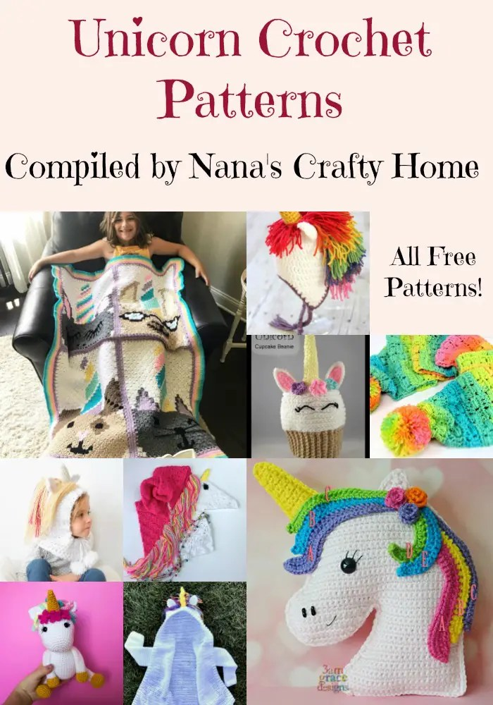 Unicorn Free Crochet Pattern Roundup