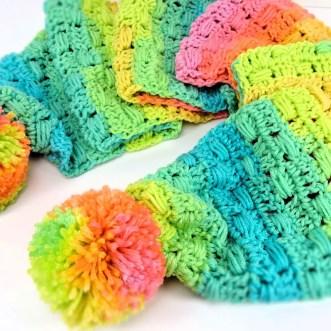 Unicorn Tracks Scarf by Crochet Kim