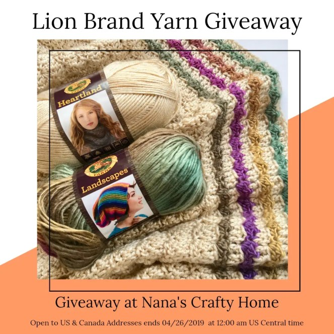 Lion Brand Yarn Giveaway at Nana's Crafty Home