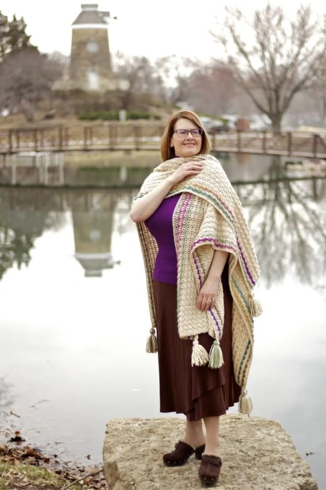 Many Wonders Ruana Wrap Free Crochet Pattern Video Tutorial