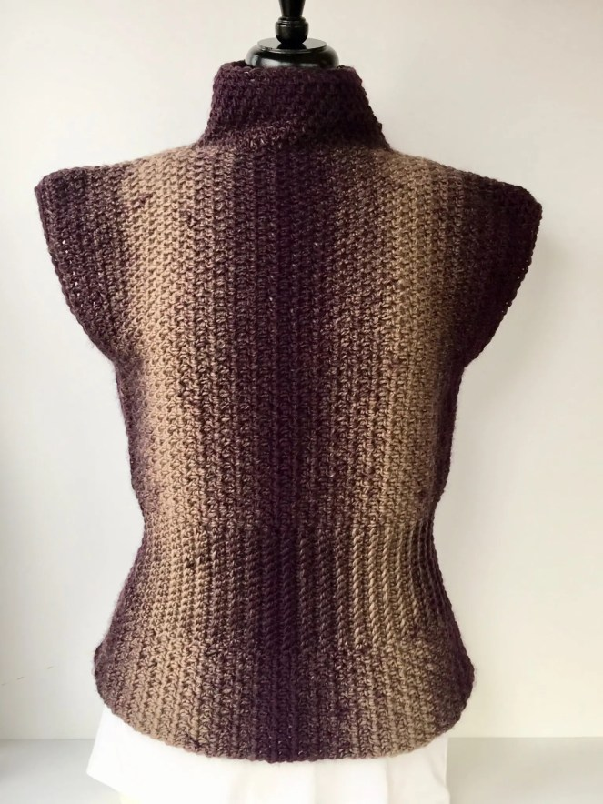 Simply Sophisticated Scarfie Sweater free crochet pattern