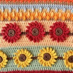 Sunflower Crochet Stitch Photo And Video Tutorial Nana S Crafty Home
