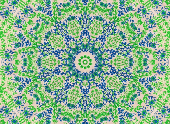 green and blue kaleidoscope