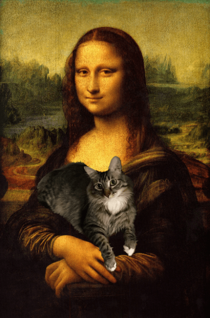 with mona lisa small