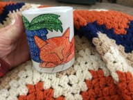 Zazzle cup orange cat