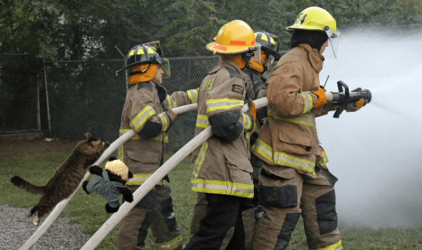 a with hoses