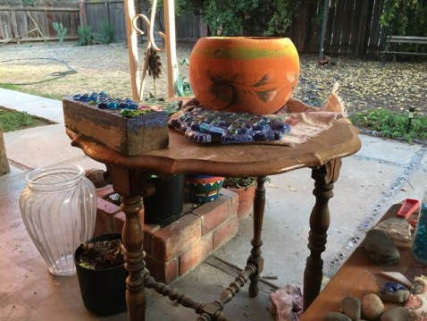 table with crafts