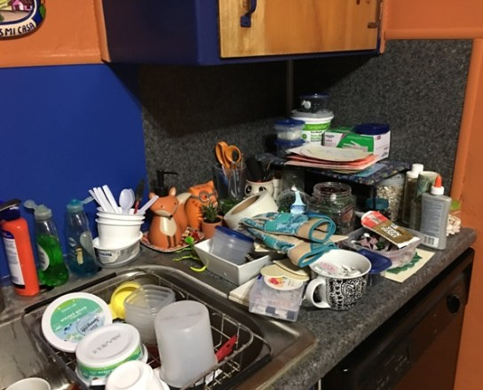 supplies on counter