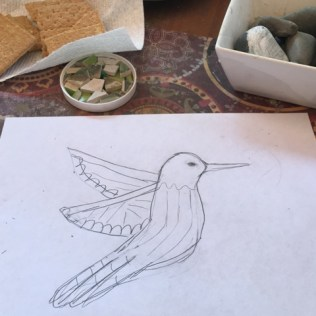 drawing with graham crackers