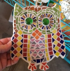 owl with grout