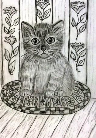 cat on rug 2