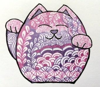 zentangle cat 2
