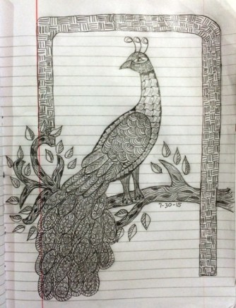 lined-paper-peacock