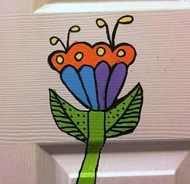 flower-on-door